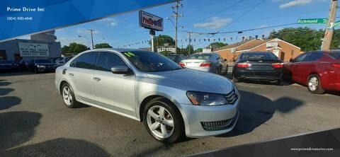 2014 Volkswagen Passat for sale at Prime Drive Inc in Richmond VA