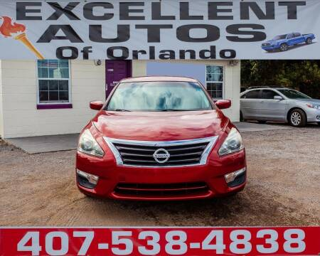 2013 Nissan Altima for sale at Excellent Autos of Orlando in Orlando FL