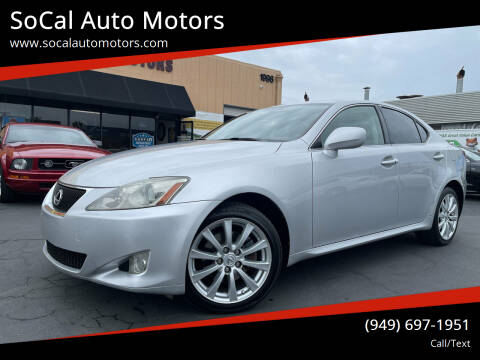 2006 Lexus IS 250 for sale at SoCal Auto Motors in Costa Mesa CA