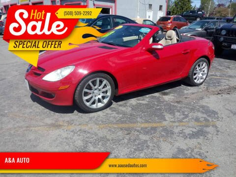2007 Mercedes-Benz SLK for sale at A&A AUTO in Fairhaven MA