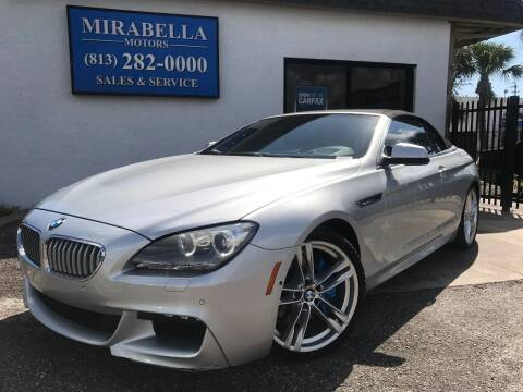 2012 BMW 6 Series for sale at Mirabella Motors in Tampa FL
