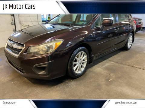2012 Subaru Impreza for sale at JK Motor Cars in Pittsburgh PA