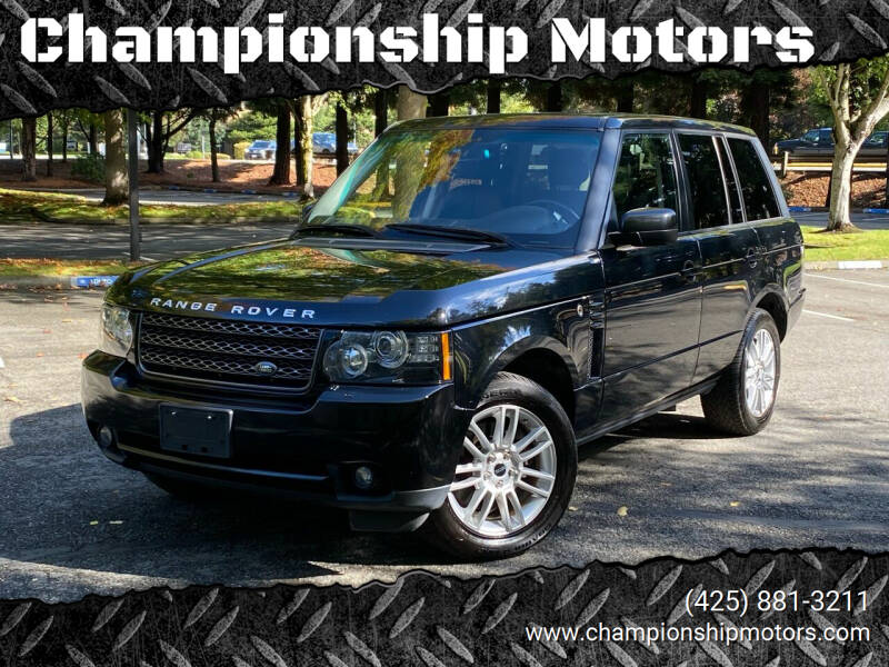 2012 Land Rover Range Rover for sale at Championship Motors in Redmond WA