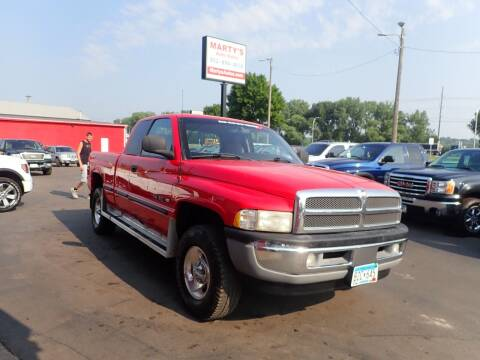 1998 Dodge Ram Pickup 1500 for sale at Marty's Auto Sales in Savage MN
