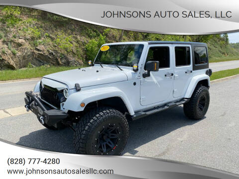 2013 Jeep Wrangler Unlimited for sale at Johnsons Auto Sales, LLC in Marshall NC
