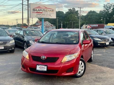 2009 Toyota Corolla for sale at Supreme Auto Sales in Chesapeake VA