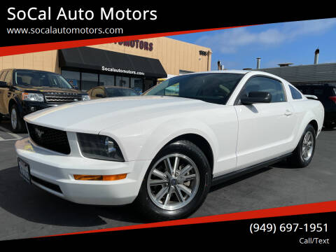 2005 Ford Mustang for sale at SoCal Auto Motors in Costa Mesa CA