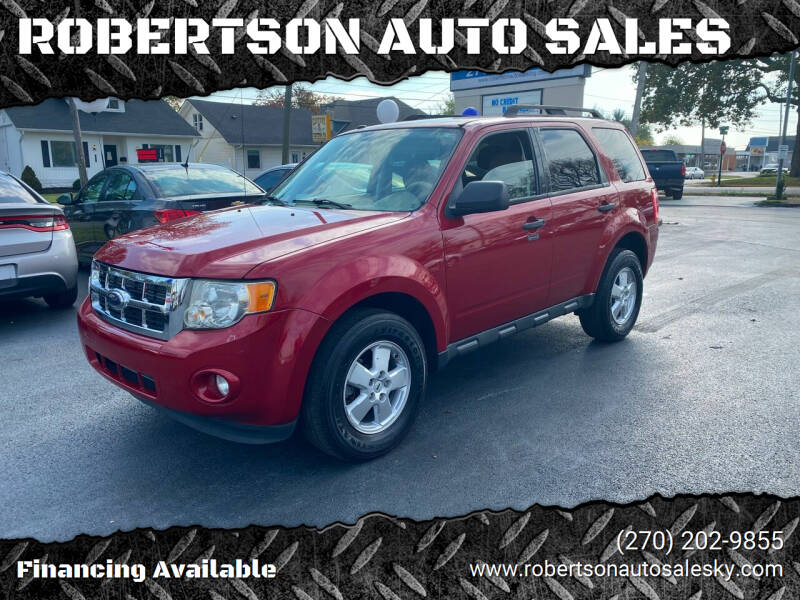 2010 Ford Escape for sale at ROBERTSON AUTO SALES in Bowling Green KY