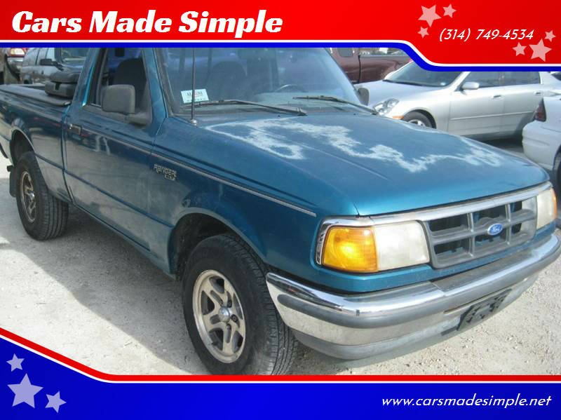 1993 Ford Ranger for sale at Cars Made Simple in Union MO