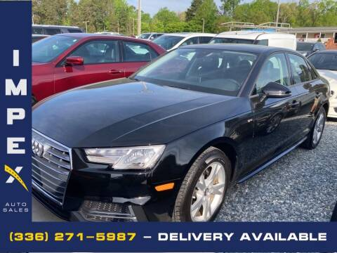 2018 Audi A4 for sale at Impex Auto Sales in Greensboro NC