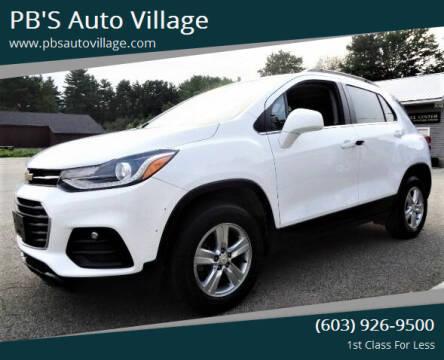 2019 Chevrolet Trax for sale at PB'S Auto Village in Hampton Falls NH