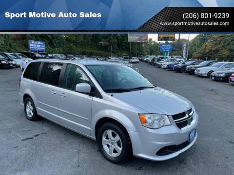 2012 Dodge Grand Caravan for sale at Sport Motive Auto Sales in Seattle WA