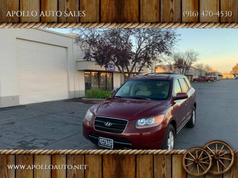 2007 Hyundai Santa Fe for sale at APOLLO AUTO SALES in Sacramento CA