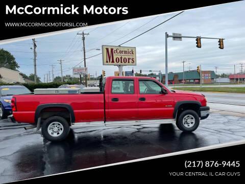 2006 Chevrolet Silverado 3500 for sale at McCormick Motors in Decatur IL
