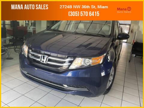 2015 Honda Odyssey for sale at MANA AUTO SALES in Miami FL