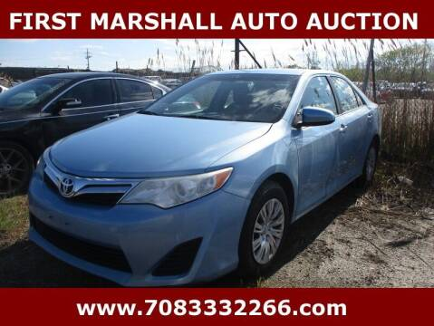 2012 Toyota Camry for sale at First Marshall Auto Auction in Harvey IL