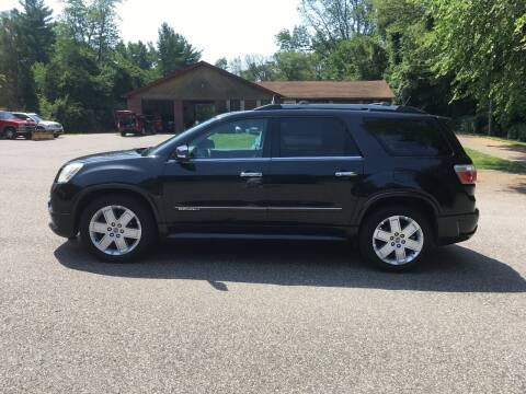 2012 GMC Acadia for sale at Lou Rivers Used Cars in Palmer MA