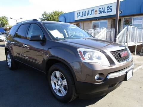 2012 GMC Acadia for sale at Salem Auto Sales in Sacramento CA