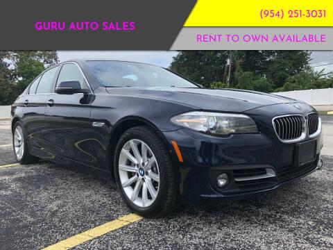 2015 BMW 5 Series for sale at Guru Auto Sales in Miramar FL