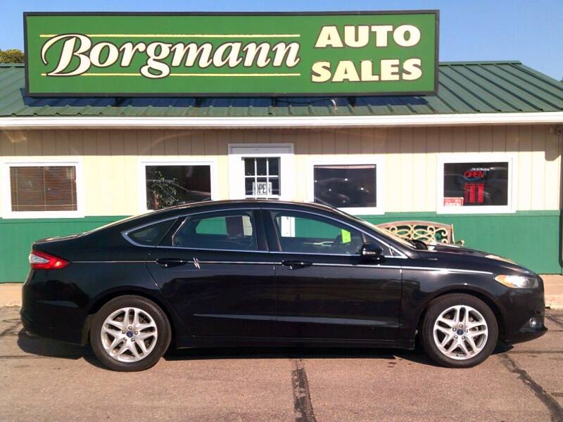 2014 Ford Fusion for sale at Borgmann Auto Sales in Norfolk NE