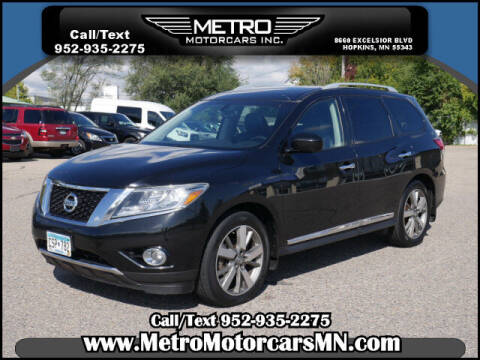 2015 Nissan Pathfinder for sale at Metro Motorcars Inc in Hopkins MN