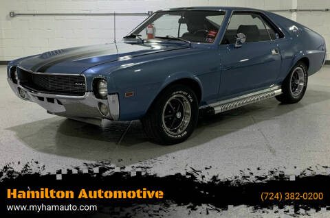 1969 AMC AMX for sale at Hamilton Automotive in North Huntingdon PA