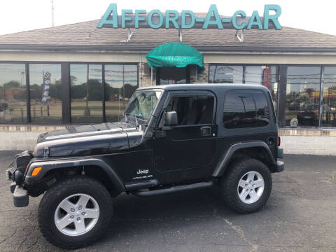 2005 Jeep Wrangler for sale at Afford-A-Car in Moraine OH