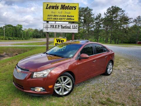 2012 Chevrolet Cruze for sale at Lewis Motors LLC in Deridder LA