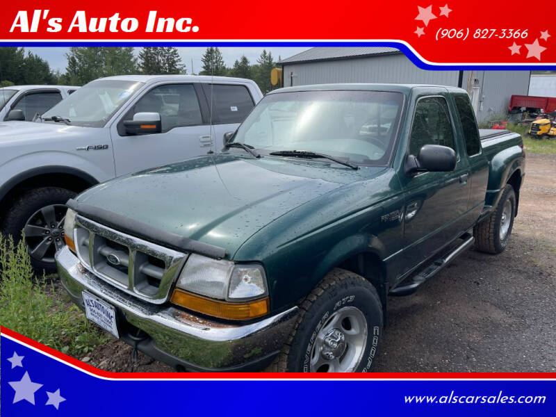 2000 Ford Ranger for sale at Al's Auto Inc. in Bruce Crossing MI