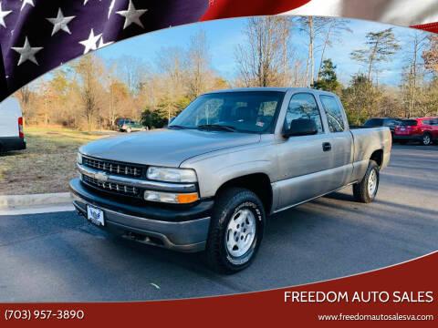 2002 Chevrolet Silverado 1500 for sale at Freedom Auto Sales in Chantilly VA