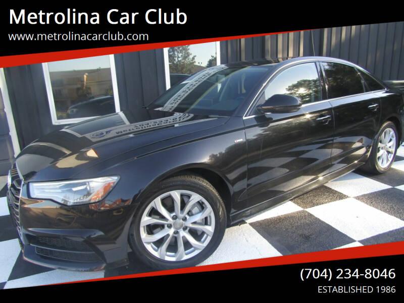 2017 Audi A6 for sale at Metrolina Car Club in Matthews NC