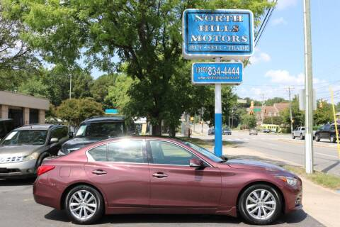 2014 Infiniti Q50 for sale at North Hills Motors in Raleigh NC