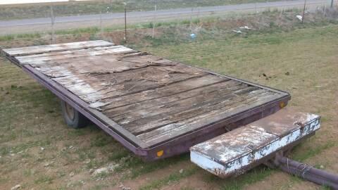 18X7 TILT TRAILER WITH TOOL BOX for sale at BENHAM AUTO INC - Benham Auto Trailers in Lubbock TX