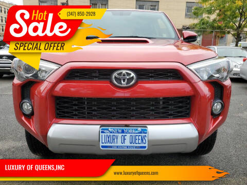 2017 Toyota 4Runner for sale at LUXURY OF QUEENS,INC in Long Island City NY