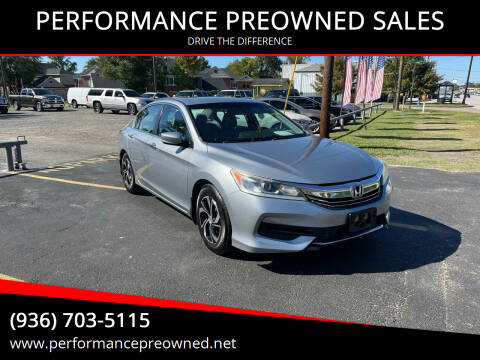 2016 Honda Accord for sale at PERFORMANCE PREOWNED SALES in Conroe TX