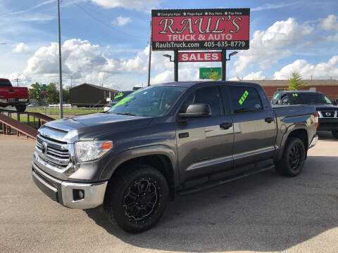 2017 Toyota Tundra for sale at RAUL'S TRUCK & AUTO SALES, INC in Oklahoma City OK
