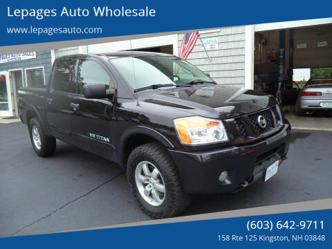 2012 Nissan Titan for sale at Lepages Auto Wholesale in Kingston NH