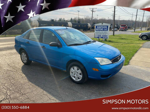 2007 Ford Focus for sale at SIMPSON MOTORS in Youngstown OH