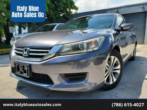 2014 Honda Accord for sale at Italy Blue Auto Sales llc in Miami FL