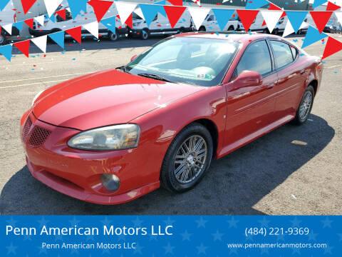 2007 Pontiac Grand Prix for sale at Penn American Motors LLC in Allentown PA