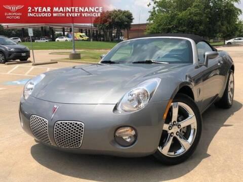 2007 Pontiac Solstice for sale at European Motors Inc in Plano TX