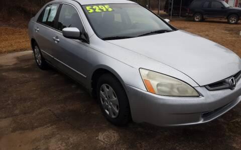 2003 Honda Accord for sale at Mathews Used Cars, Inc. in Crawford GA