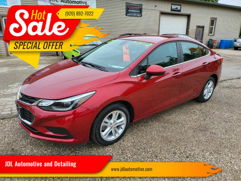 2017 Chevrolet Cruze for sale at JDL Automotive and Detailing in Plymouth WI