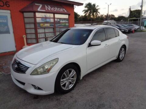2013 Infiniti G37 Sedan for sale at Z MOTORS INC in Hollywood FL