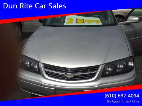 2005 Chevrolet Impala for sale at Dun Rite Car Sales in Downingtown PA