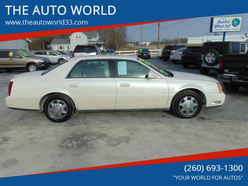 2003 Cadillac DeVille for sale at THE AUTO WORLD in Churubusco IN