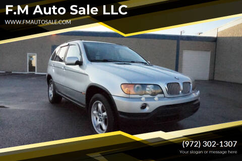 2002 BMW X5 for sale at F.M Auto Sale LLC in Dallas TX