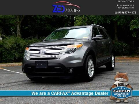 2013 Ford Explorer for sale at Zed Motors in Raleigh NC