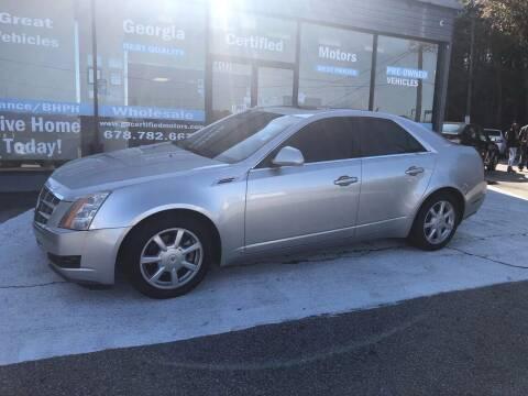 2008 Cadillac CTS for sale at Georgia Certified Motors in Stockbridge GA
