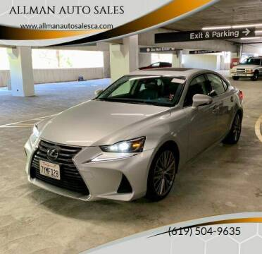 2017 Lexus IS 200t for sale at ALLMAN AUTO SALES in San Diego CA